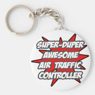 SuperDuper fantastischer Fluglotse Standard Runder Schlüsselanhänger
