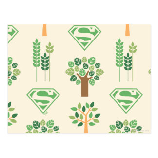 Supergirl Bäume Postkarte