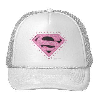 Supergirl beunruhigte Logo-Schwarzes und Rosa Kult Mützen