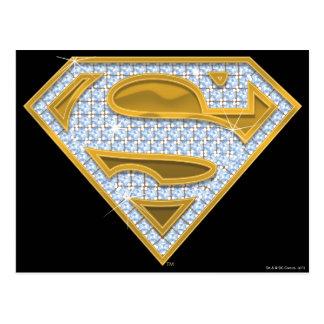Supergirl Blau-Juwelen Postkarte