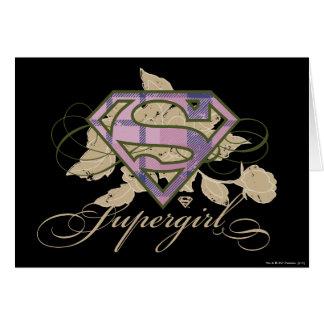 Supergirl Blumen Karte