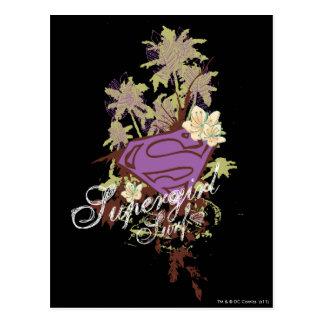 Supergirl Brandungs-Logo Postkarte