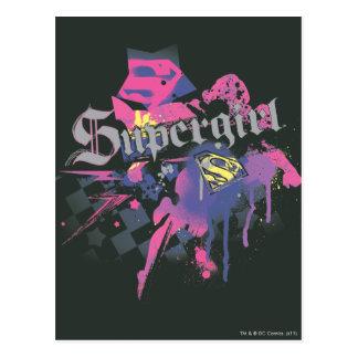 Supergirl Checkered Spritzer Postkarte