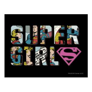 Supergirl Comic-Logo Postkarte