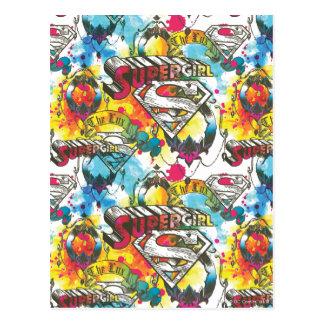 Supergirl das Lux-Muster Postkarte