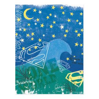 Supergirl eine Welt Postkarte