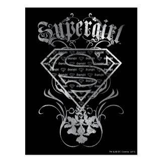 Supergirl extravagantes silbernes Logo Postkarte