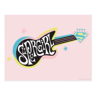 Supergirl Gitarre Postkarte