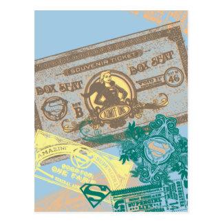 Supergirl Kutschersitz-Blau Postkarte