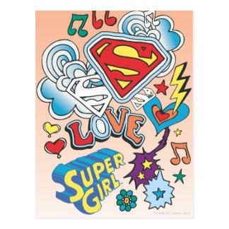 Supergirl Liebe Postkarte