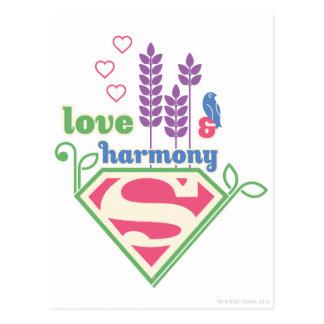 Supergirl Liebe u. Harmonie Postkarte