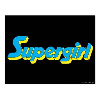 Supergirl Logo Postkarte