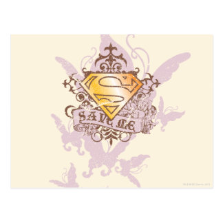 Supergirl retten mich postkarte
