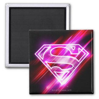 Supergirl Rosa Quadratischer Magnet
