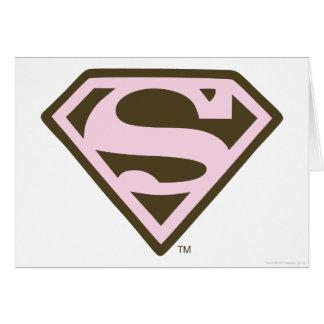 Supergirl Rosa und Brown-Logo Karte