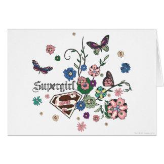 Supergirl Schmetterlinge Karte