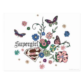 Supergirl Schmetterlinge Postkarte