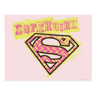 Supergirl Schmutz-Logo-Rosa Postkarte
