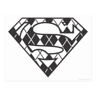 Supergirl schwarzes Rauten-Logo Postkarte