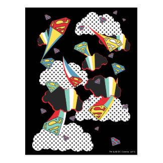 Supergirl verrückter Himmel Postkarte