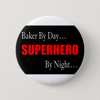 Superheld-Bäcker Runder Button 5,1 Cm