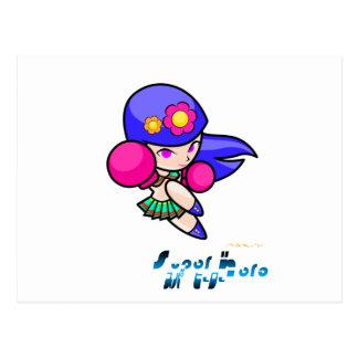Superheld - Durchschlags-Mädchen Postkarten