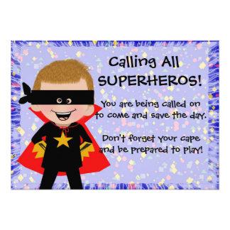Superheld-Einladung