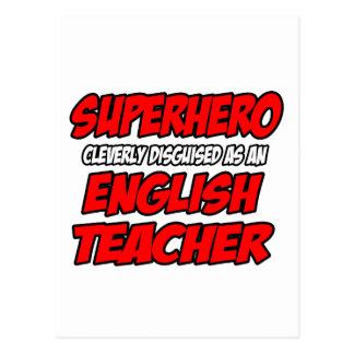 Superheld-… Englischlehrer Postkarte