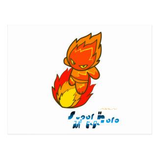 Superheld - Feuer-Surfer Postkarten