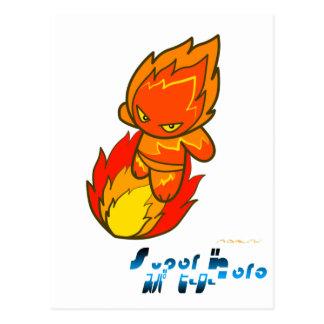 Superheld - Feuer-Surfer Postkarte