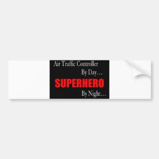 Superheld-Fluglotse Autoaufkleber