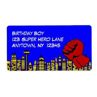 Superheld-Geburtstags-Party-große Aufkleber