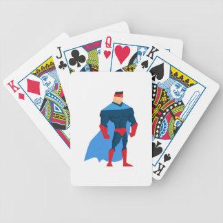 Superheld in der Aktion Bicycle Spielkarten