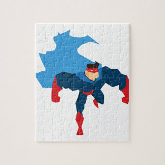 Superheld in der Aktion Puzzle
