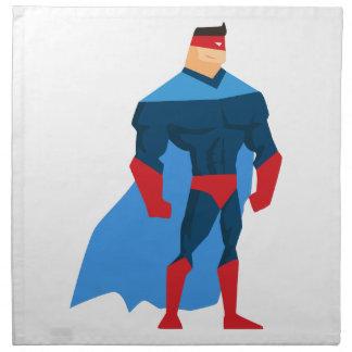 Superheld in der Aktion Serviette