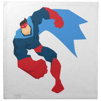 Superheld in der Aktion Stoffserviette