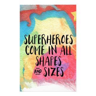 Superheld-inspirierend Briefpapier