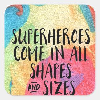Superheld-inspirierend Quadratischer Aufkleber
