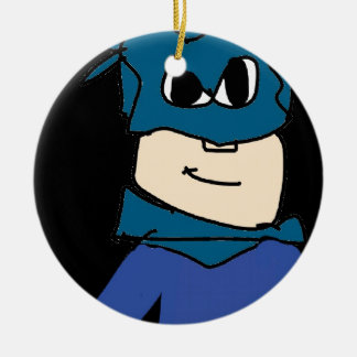 Superheld Keramik Ornament