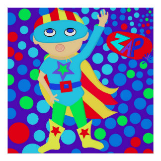 Superheld-Kind Poster