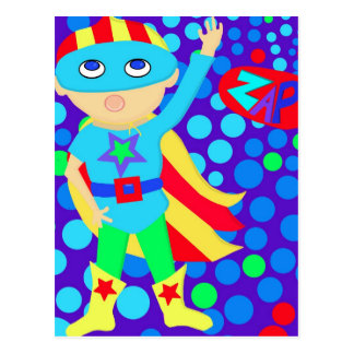 Superheld-Kind Postkarte