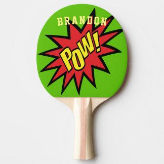 Superheld-Kriegsgefangen-kundenspezifische Farbe Tischtennis Schläger