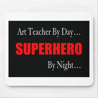 Superheld-Kunstlehrer Mauspad