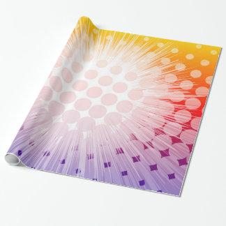 Superheld-Pop-Kunst lila Geschenkpapier