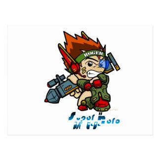 Superheld - Soldat Roger Postkarte