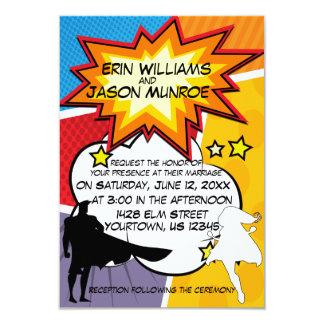 Superhero-Comic-Buch-Einladung 8,9 X 12,7 Cm Einladungskarte