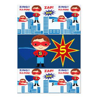 Superhero-Comic-Buch-Kindergeburtstag-Einladungen