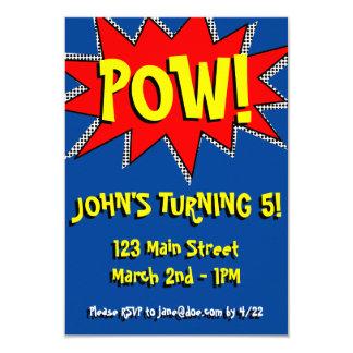 Superhero-Comic-Buch-Themed Einladungs-Schablone 8,9 X 12,7 Cm Einladungskarte