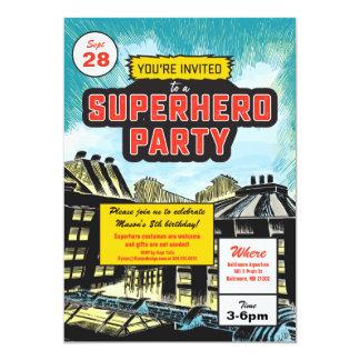 Superhero-Comic-Party Einladung