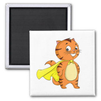 Superkatzen-Cartoon Quadratischer Magnet